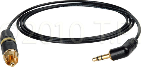 DSLR Video Breakout 3.5mm Male to RCA Male 75 Ohm Cable 3FT