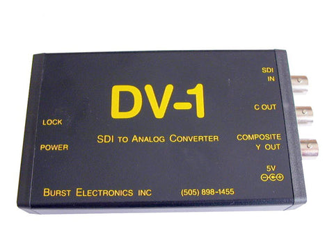 Burst DV-1 Serial Digital to Analog Video Converter