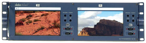 Datavideo TLM-702MH Rackmountable Dual LCD Monitor w/RKM-572 Holder for SE-500