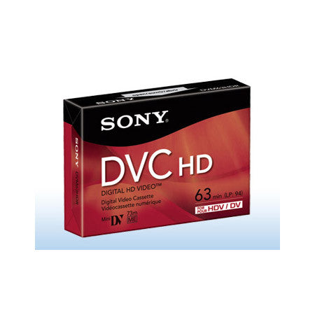 Sony DVM-63HDR 63 Minute HD Digital Video Cassette