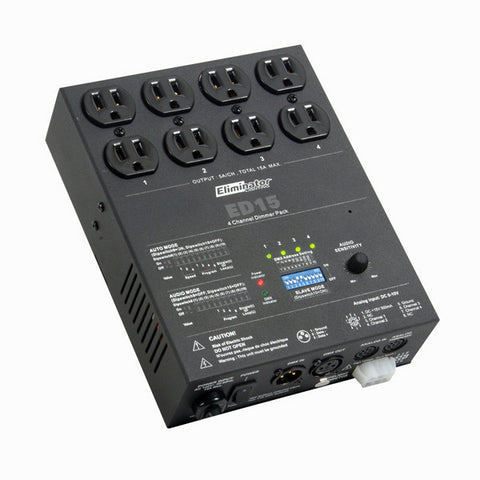A high quality Image of Eliminator Lighting ED-15 4 Channel DMX Dimmer