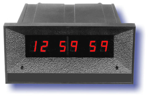 ESE 12 Hour 7/16 High Red Digit Real Time Clock BLACK