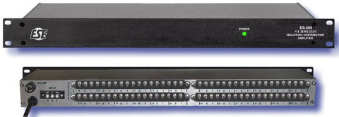 A high quality Image of ESE ES-250 1x24 RS-232 ASCII Distribution Amplifier