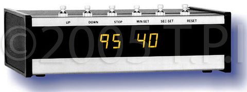 ESE 100 Minute 1/2 Inch High Yellow Digit Up/Down Timer- Rackmount Black