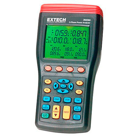 Extech 382091 1000A 3-Phase Power Analyzer/Datalogger (50 Hz)