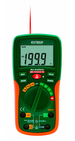 Extech EX210 8 Function Mini Digital MultiMeter with IR Thermometer w/ Limited NIST Certificate