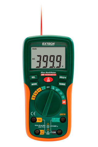 Extech EX230 12 Function Mini Digital MultiMeter with IR Thermometer