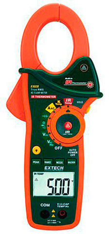 Extech EX820 1000A True RMS AC Clamp Meter with IR Thermometer