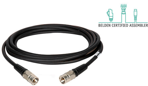 Belden 1505F RG59 Digital Coax Cable F Male to F Male 18IN