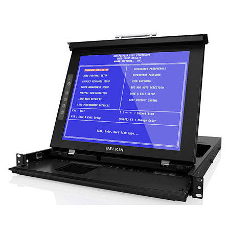 Belkin F1DC101P-DR OmniView 17 Inch Dual-Rail LCD Rack Console