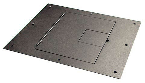 FSR Black Cover for FSR Floor Box for Raised Access Computer & Stage Floors