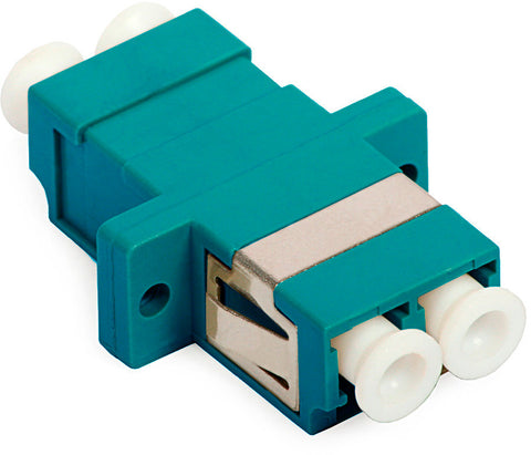 A high quality Image of 10-Gig LC to LC Duplex Multimode Fiber Optic Coupler with Flange