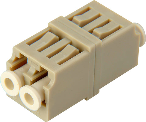 LC to LC Multimode Duplex Fiber Optic Coupler Adapter Bronze Sleeve