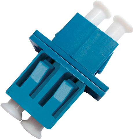 LC to LC Footprint Fiber Adapter/ Duplex/ SingLEMOde/ Plastic with SC Footprint