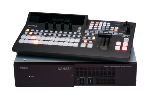 A high quality Image of FOR-A Hanabi XT 1M/E Switcher with HVS-XT100OU Control 8 HD In - 4 HD/1 HDMI Out