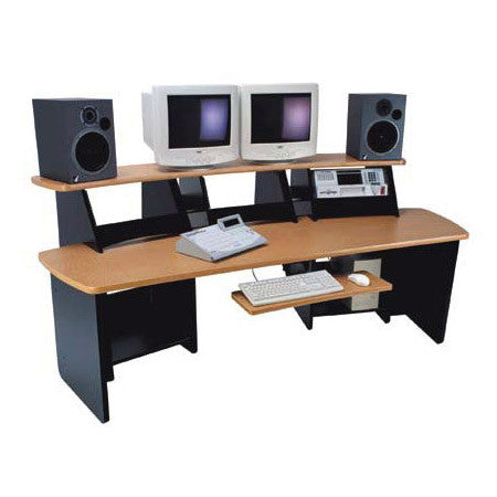 Omnirax Force 12 Audio Video Workstation (Black Melamine)