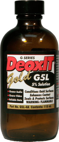 CAIG Laboratories DeoxIT GOLD G5L-4A Liquid 5 Percent Solution 118 ml