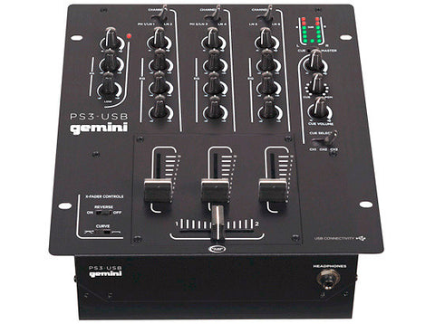 Gemini PS3 3 Channel 10 Inch Mixer