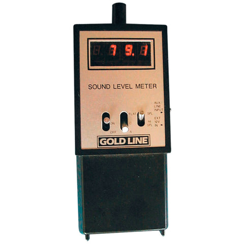 Gold Line SPL162 Hand Held Sound Pressure Level Meter to 162dB SPL