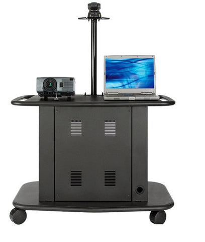 Avteq GM-200P 32inch Tall Cart with Adjustable Height Camera Platform