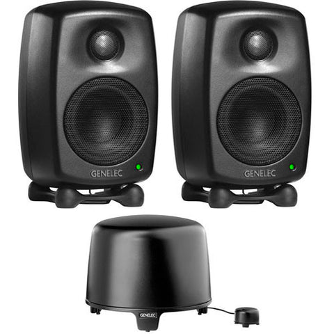 A high quality Image of Genelec 6010 StereoPak AMM 6010 2.1 Stereo Pak -MYSTIC BLACK