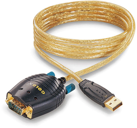 GoldX GXMU-1200 USB to DB 9 Serial Converter Cable 6FT