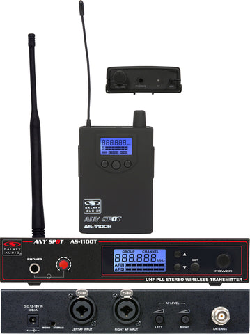 Galaxy Audio AS-1100L UHF Wireless Personal Monitor Freq CODE L