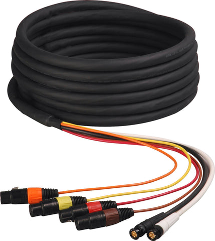 2-Channel HD-SDI Video and 4-Channel XLR Audio Snake Cable 25FT