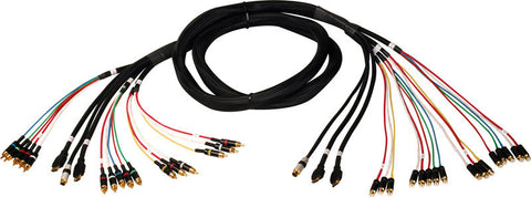 HDTV All-In-One Male to Male AV Hook Up Cable 8FT