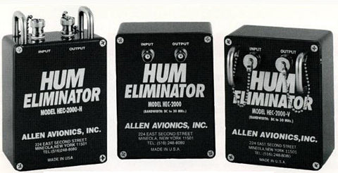 Allen Avionics HEC-1000 75 Ohm Single Channel Video Hum Eliminator ABS Housing