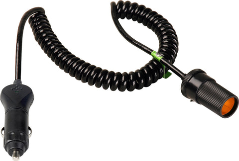 Connectronics Heavy Duty  Cig Plug To Cig Jack High Power Cable 10Ft Coiled
