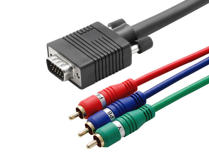 6 feet 6/' HD15-3-RCA 6ft VGA to 3 RCA Component Video Cable