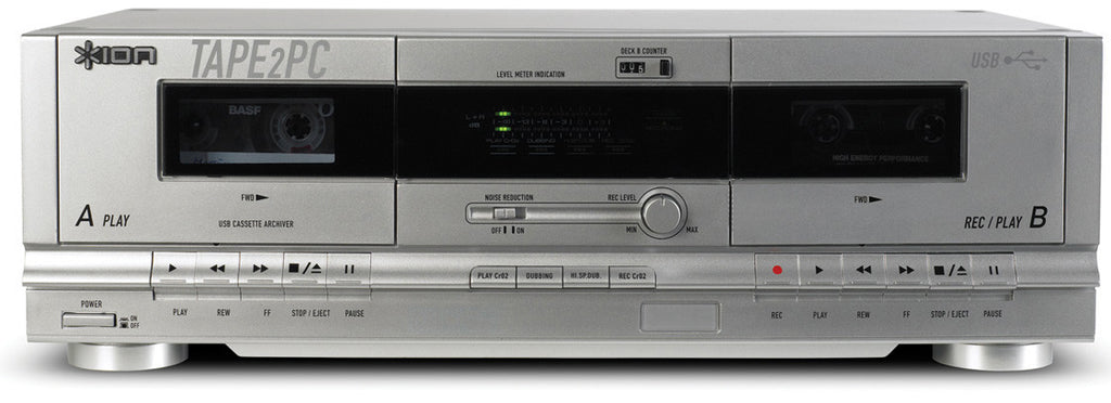A high quality Image of ION TAPE2PC Dual Cassette Deck With USB PC/MAC Interface BLACK ONLY