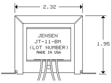 Jensen JT-11-BMCF Line Output Audio Transformer
