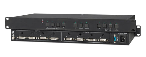 KanexPro MXDV44A Professional DVI Matrix Series with RS-232