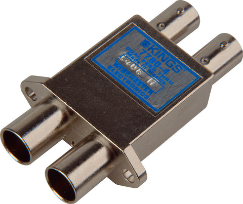Kings 7780-6 Video Jacks-Dual Feed Through Threaded Flange