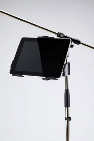 A high quality Image of K&M 19720 iPad Holder with clamp-on mount