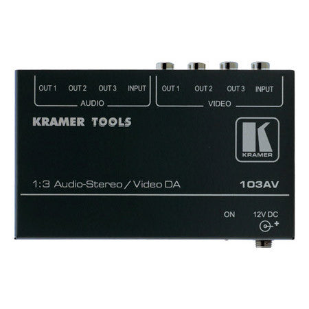 A high quality Image of Kramer 103AV 1:3 Composite Video & Stereo Audio Distribution Amplifier