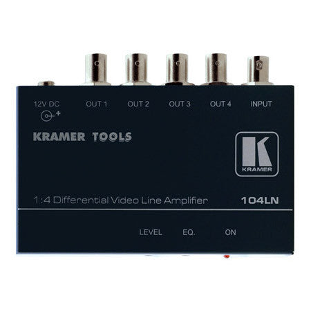 Kramer 1x4 Composite Video Line Amp with Differential Input