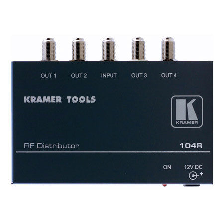 A high quality Image of Kramer 104R 1x4 RF Distribution Amp