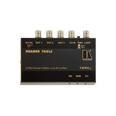 A high quality Image of Kramer 123VXL 1x3 Differential Composite or SDI Video Amp