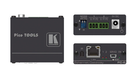 Kramer FC-6P 2-port Multi-Function Serial/IR PoE Control Gateway
