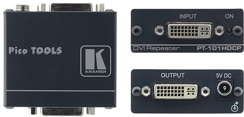 A high quality Image of Kramer PT-101HDCP DVI Line Driver/Repeater
