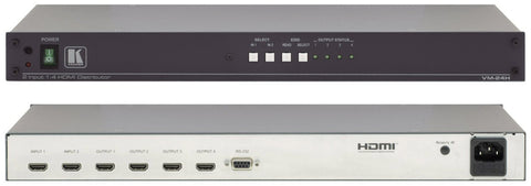 A high quality Image of Kramer VM-24H Dual Input 1x4 HDMI Distribution Amp with RS232 Control
