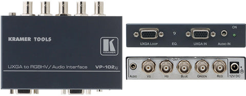 A high quality Image of Kramer VP-102XL XGA to RGBHV Format Converter with Stereo Audio