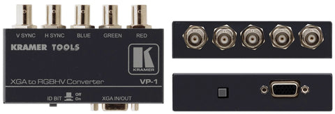 A high quality Image of Kramer VP-1 15-pin HD to 5 BNC Bidirectional Format Converter