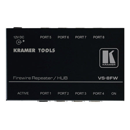 Kramer VS-4FW 4 Port Firewire Repeater/Hub with Port Protection up to 400Mbps