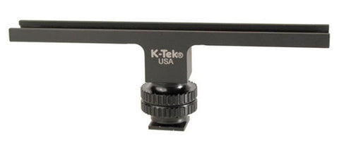 K-Tek KTBAR Aluminum 6 Inch Shoe Bar on a Delrin Shoe