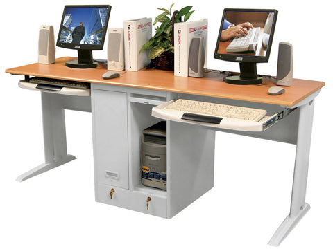 Luxor LCW180 Two Person/Tower Computer Workstation