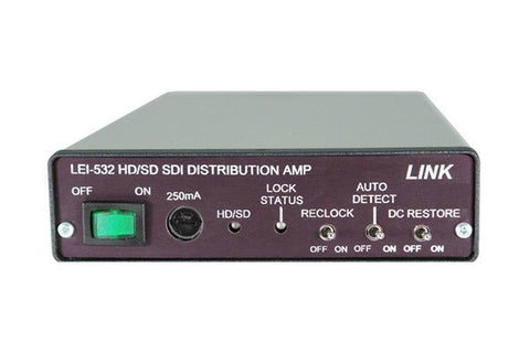 A high quality Image of Link Electronics LEI-532 HD/SD SDI 1 x 4 Video Distribution DA